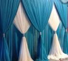 Voilages de couleurs à motifs rideaux lourds en pagne et coussins
