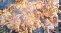 Poulet, porc et bœuf