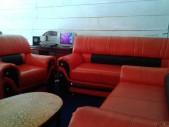 Salon en cuir haut de gamme 6plcs coleur orange